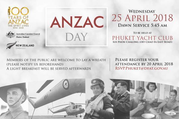ANZAC Day 2018 dawn service in Phuket, Thailand