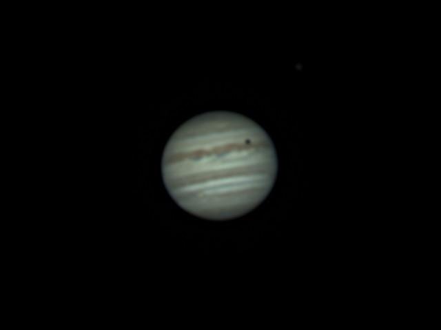 木星とイオの影 (RGB画像、RGB Align 済) (2018/4/27 22:48)
