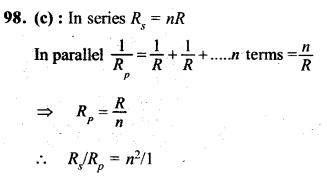 NEET AIPMT Physics Chapter Wise Solutions - Current Electricity explanation 98