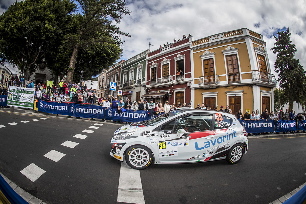 35 VITTA Mattia, OMETTO Pietro, Peugeot 208 R2, action during the 2018 European Rally Championship ERC Rally Islas Canarias, El Corte Inglés,  from May 3 to 5, at Las Palmas, Spain - Photo Gregory Lenormand / DPPI