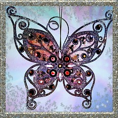 Day 86 of 365 -- Sparkling Butterfly on My Wall -- Cellphone Project 2018