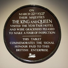 Photo of Mary of Teck and George V brown plaque
