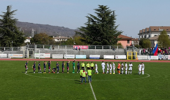 Montebelluna-Virtus Verona: De Marchi, gol pesantissimo!