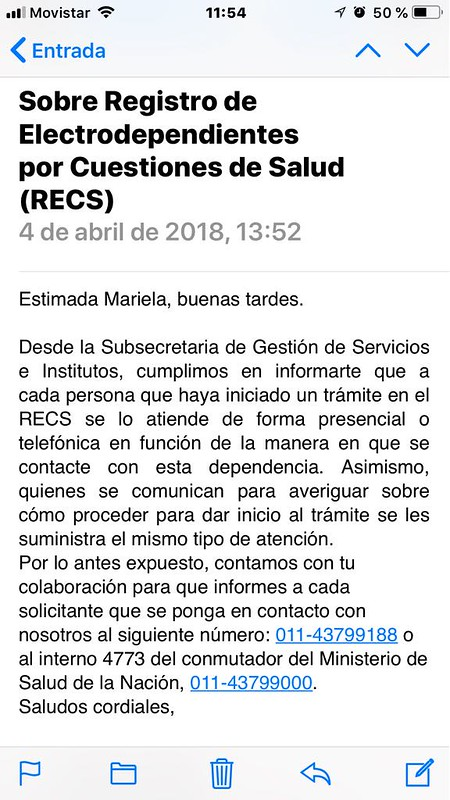 Mail electrodependiente