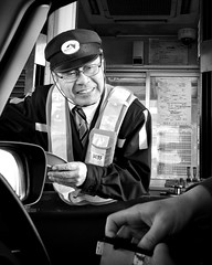 Your dignity emanates from your genuine smile (Highway toll collector, near Kyoto)