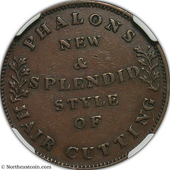 1837 Phalon's Hair Cutting Token reverse