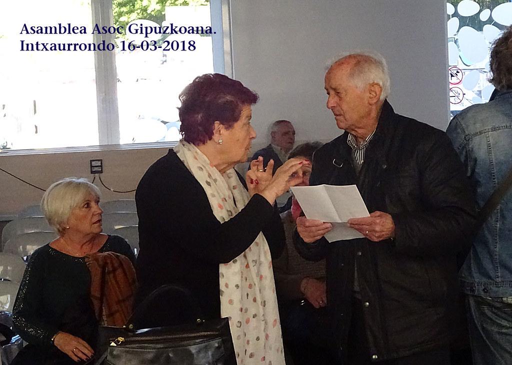 Asociacion Guipuzcoana. Asamblea Anual. Marzo 2013.