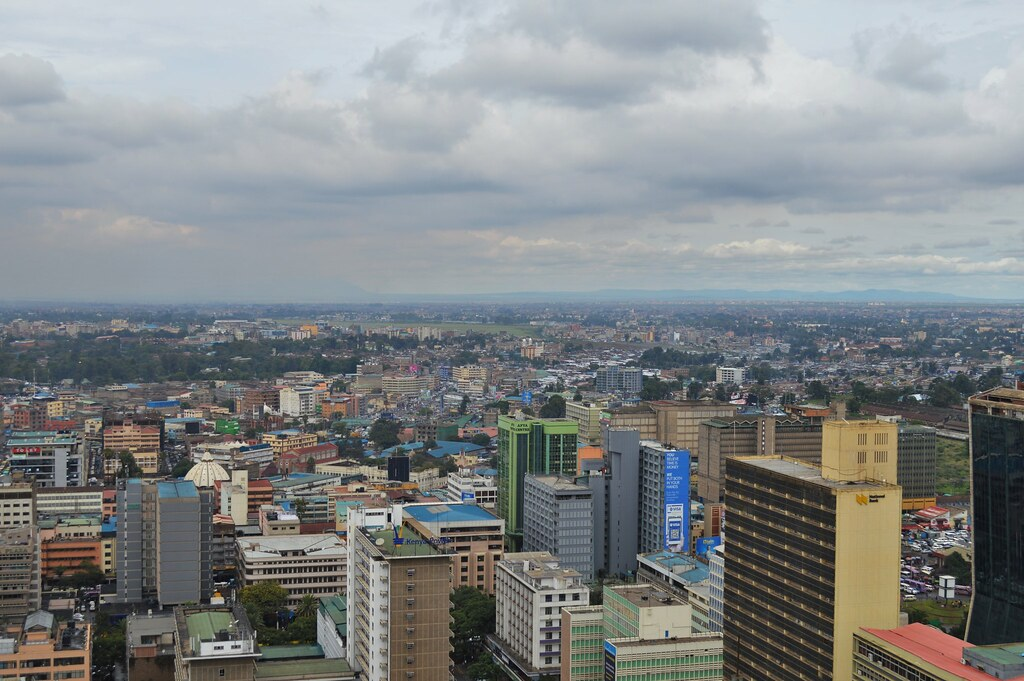 Nairobi. View on the top of Conference Centre