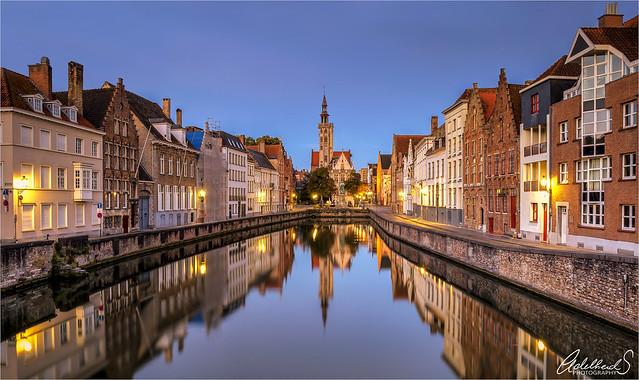 Dawn in Bruges, Belgium