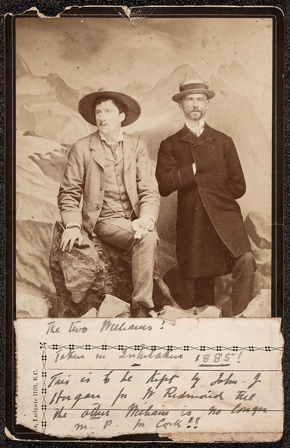 The two Williams! : Taken in Interlaken 1885! This is to be kept by John J. Horgan for W. Redmond till the other William is no longer M.P. in Cork