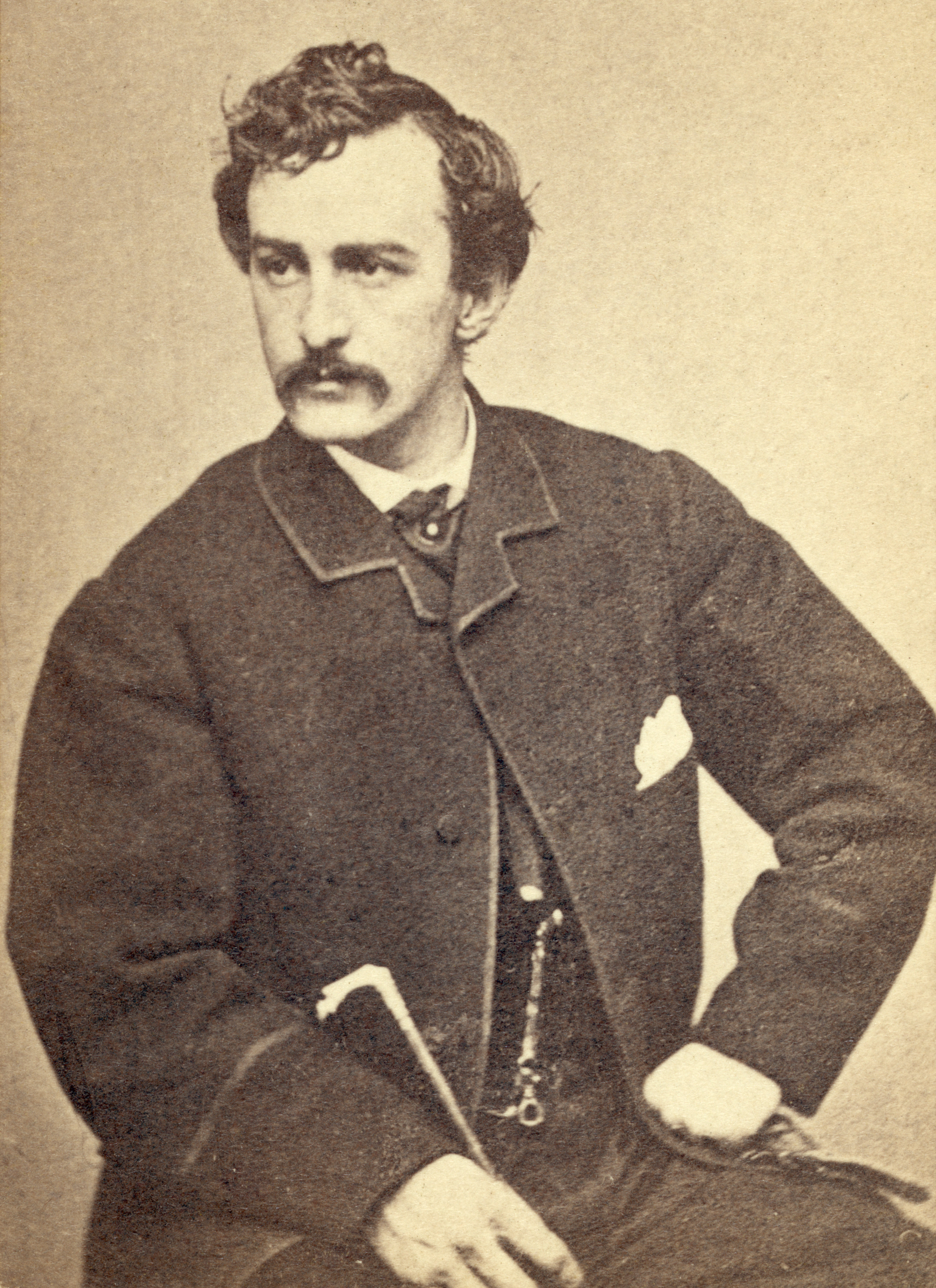 Portrait of John Wilkes Booth, circa 1865.