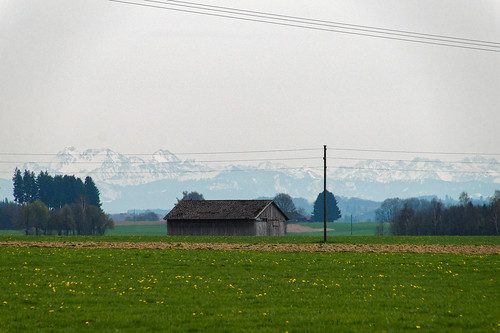 View towards Wetterstein mountains