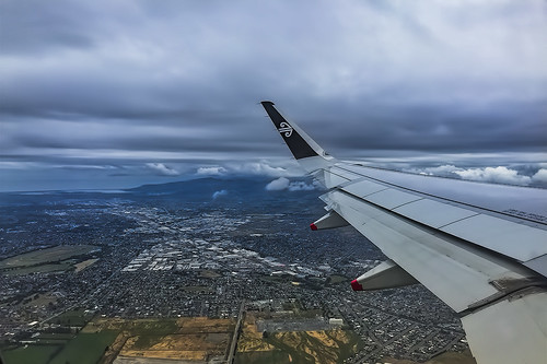 NZ Aerial view of Christchurch, New Zealand