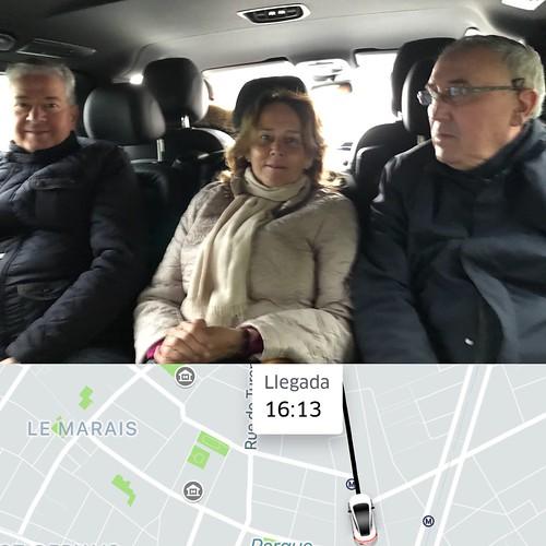 Recorrido UBER en Paris