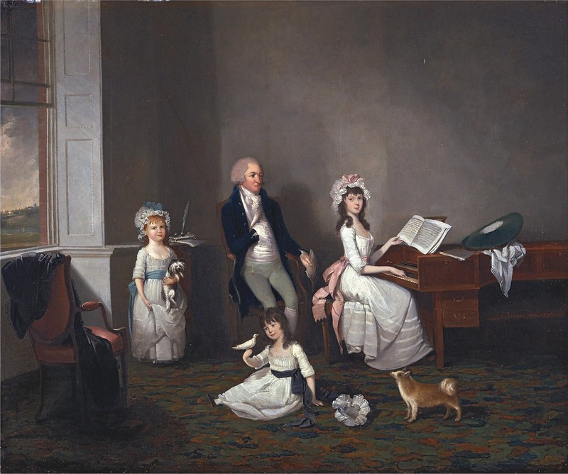 John Greenwood - John Richard Comyns of Hylands, Essex, with His Daughters (1775)