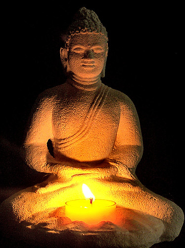 Buddha by Candle Light