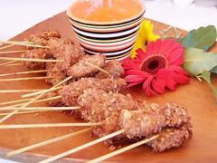 meat, food, dish, kebab, cuisine, skewer, satay,