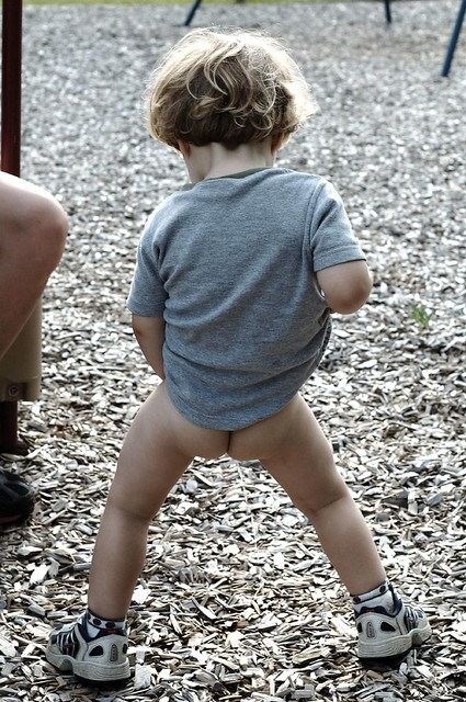 Little Boys Pants Pulled Down