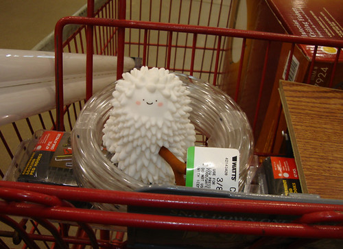 Treeson in the Cart At the Home Improvement Store