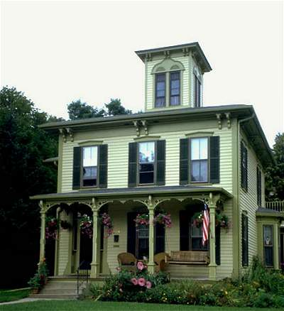 Italianate victorian exterior paint color scheme nice porch design country kitchen for Victorian exterior color schemes