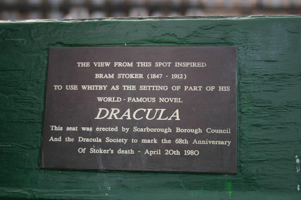Photo of Bram Stoker black plaque