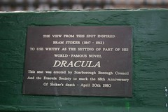 Photo of Bram Stoker black plaque
