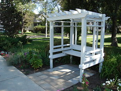 backyard, outdoor structure, pergola, pavilion, yard, gazebo,