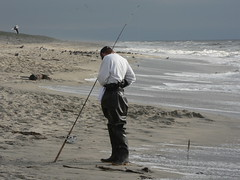 beach, sand, fishing, sea, casting fishing, wind, surf fishing, mudflat, shore, coast, fisherman,