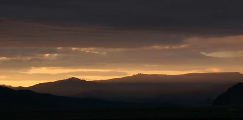 mountains sunrise mongolia gobi