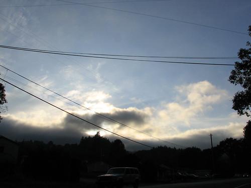 sunset fog clouds marinelayer