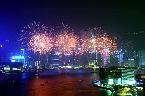 Hong Kong Firework Oct 2006