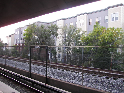 Multiunit housing at Takoma Station