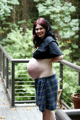 pregnant rachel on the back deck    mg 1729