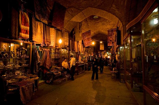 In the bazar of Esfahan