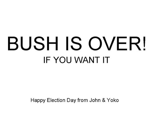 BUSH IS OVER!