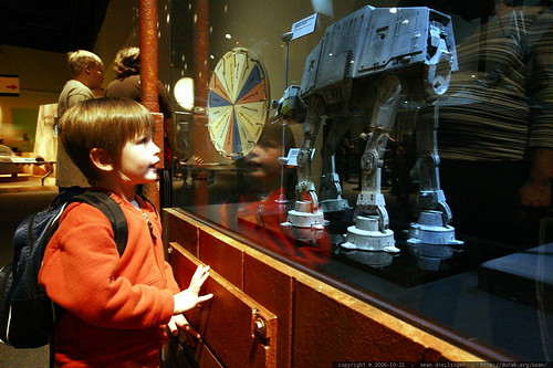 """nick and a """"robot doggy""""   at at imperial walker    MG 2625"""