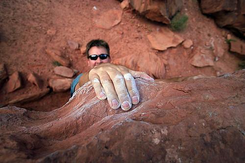 Bouldering in Moab