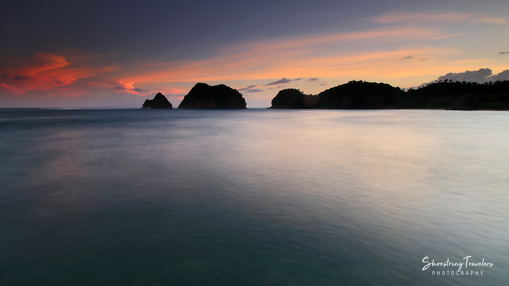 sunset at Twin Rock Beach Resort, Igang Beach, Virac, Catanduanes
