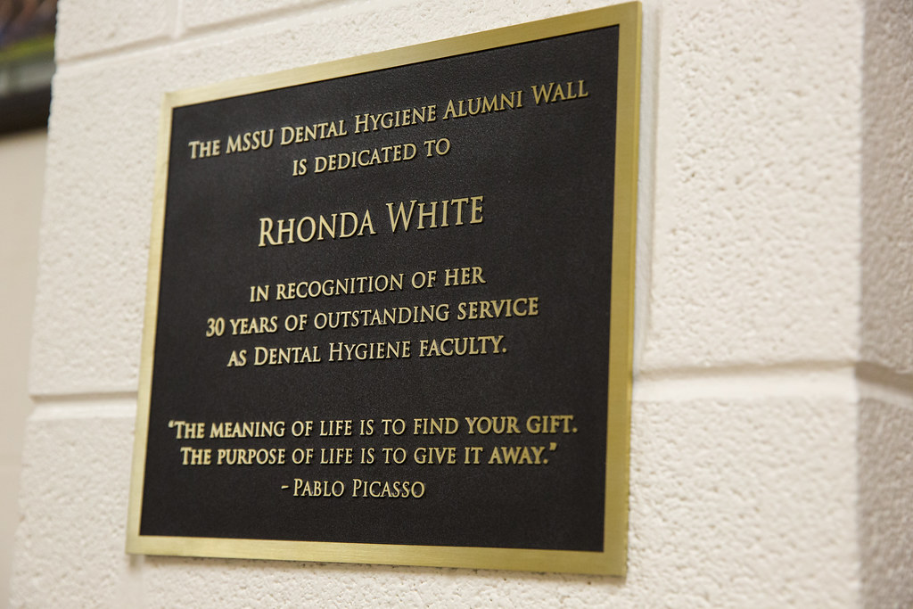 Dental Hygiene Wall Dedication Spring 2018