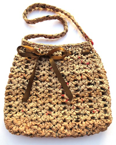 Brown Plarn Hobo Purse