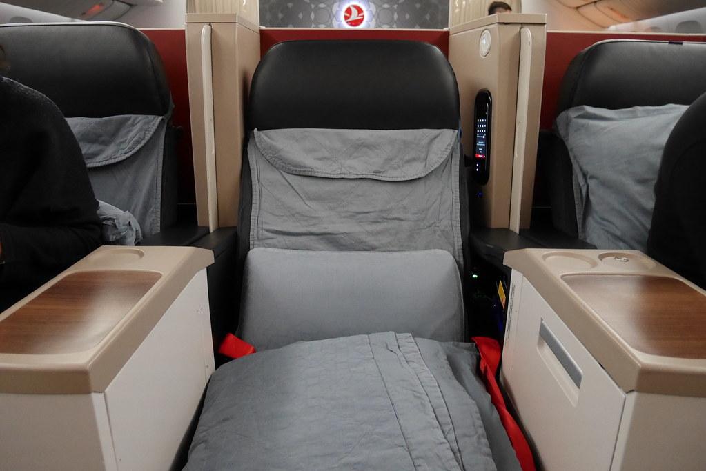 土耳其航空商務艙鋪床