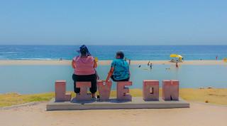 Billede af Camps Bay Beach i nærheden af Cape Town. cape town capetown southafrica south africa city beach sea