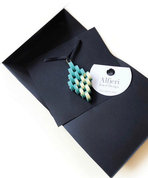 Modern Paper Necklace in Package by Alfieri Jewel Design
