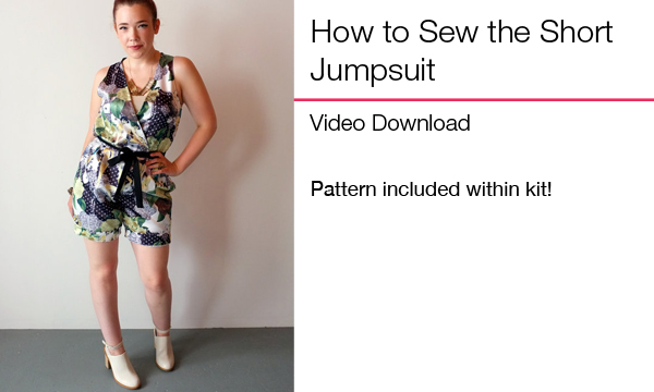 How to Sew Short Jumpsuit
