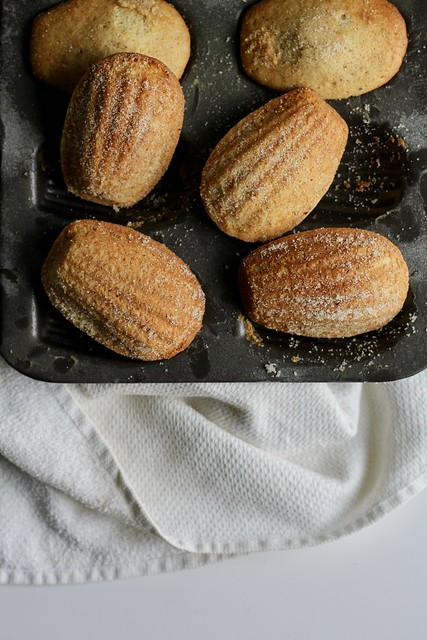 vanilla-brown butter madeleines