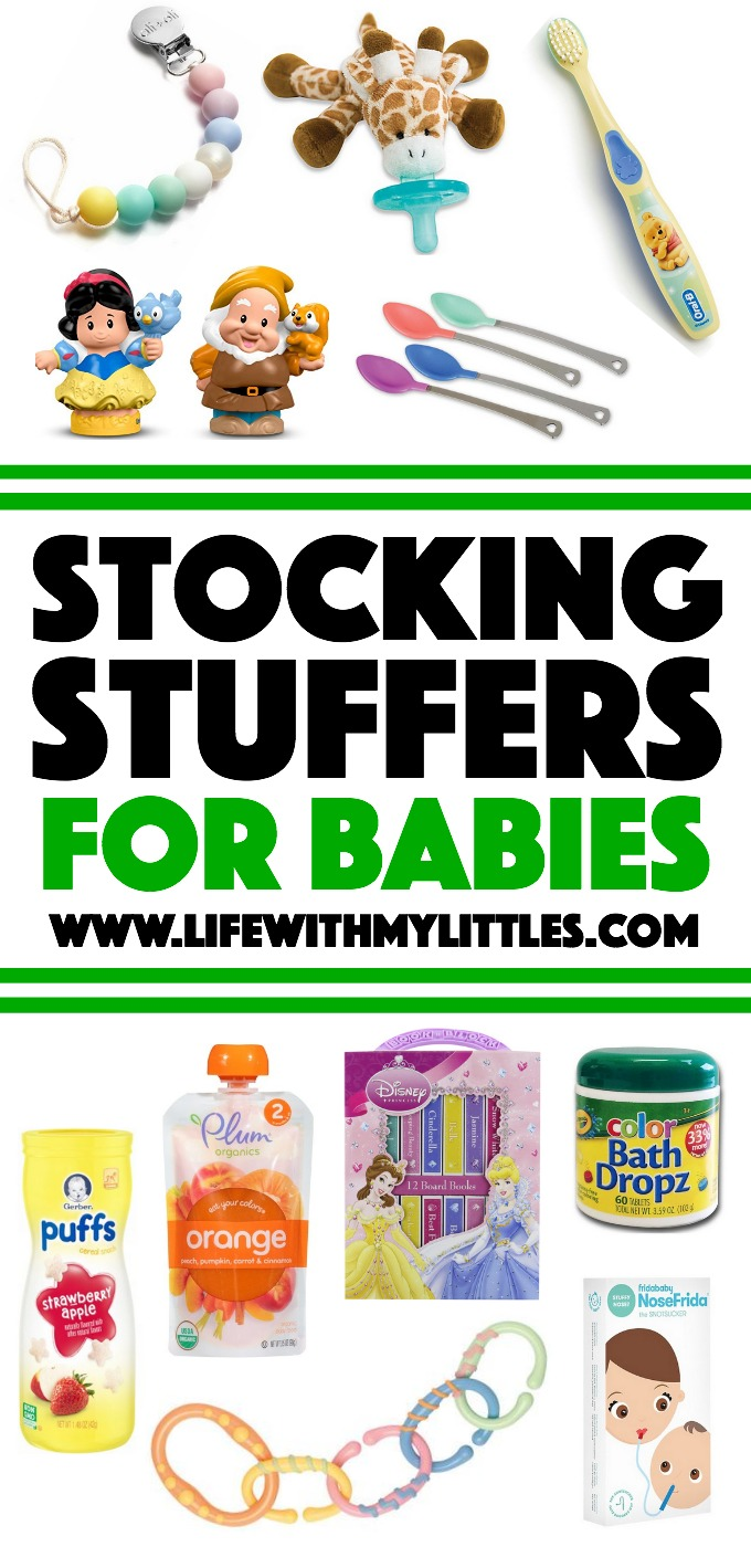 Over 25 stocking stuffers for babies! A great list if you're looking for baby stocking stuffer ideas!