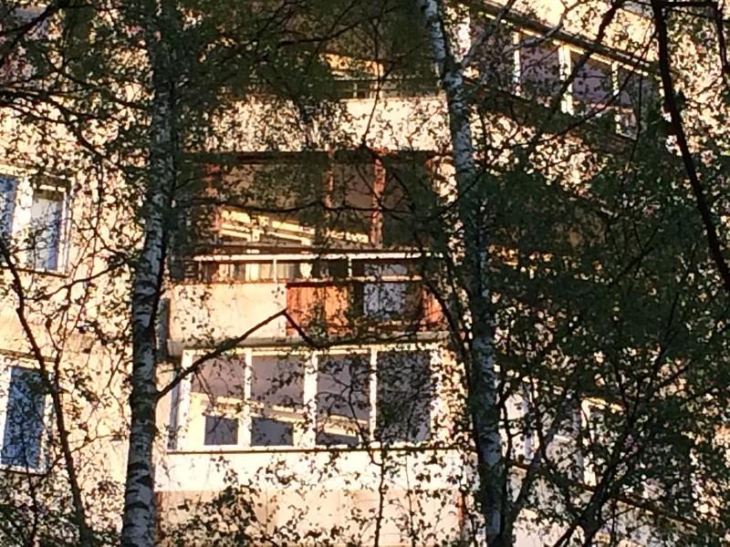 балкон, на котором рвануло