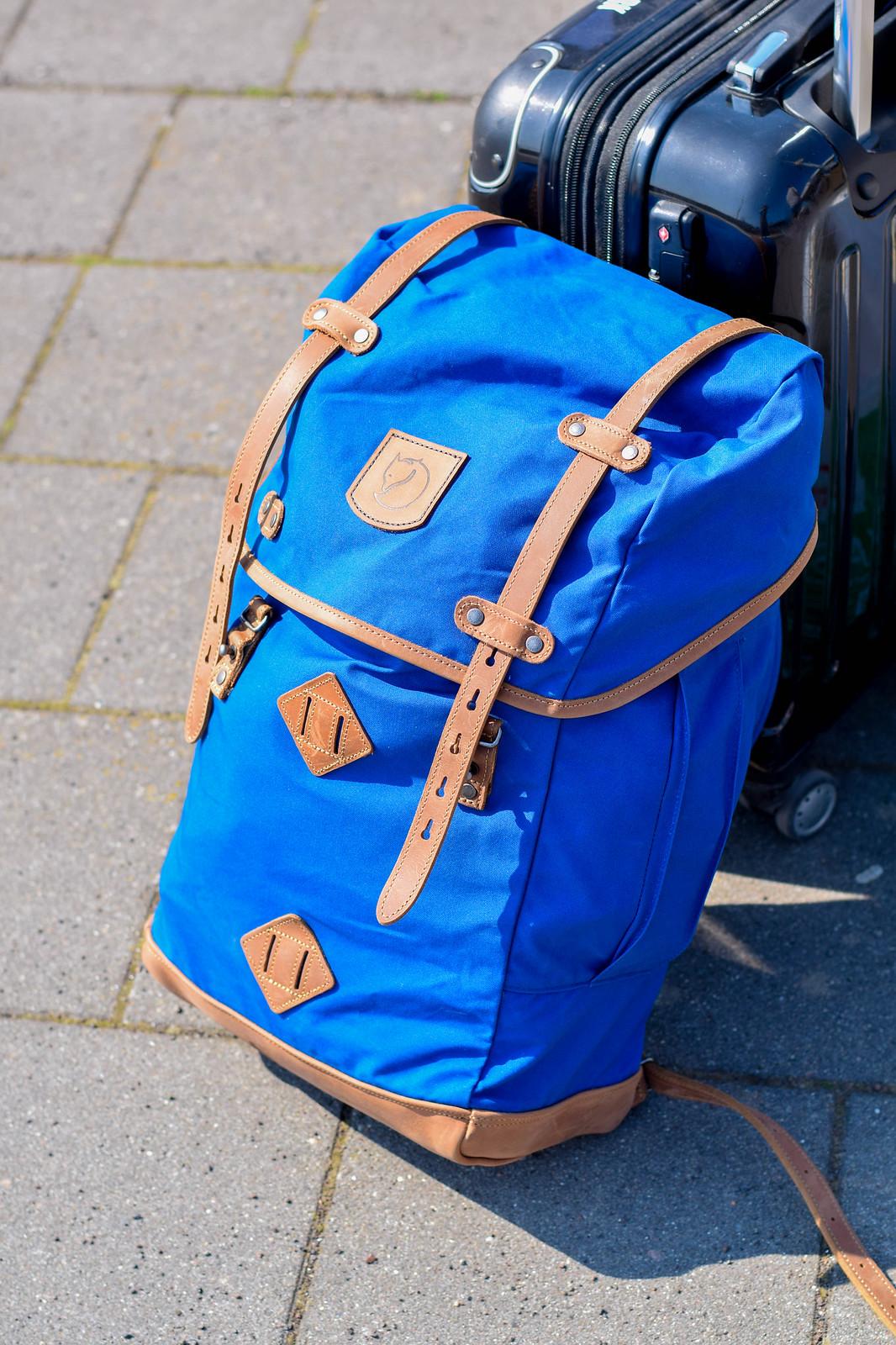 Blå fjällrävenväska för tågluff
