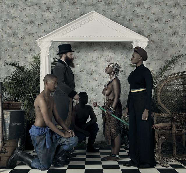 "Obra ""Genesis"" –  do artista e ativista do Zimbábue Kudzanai Chiurai  - Créditos:  Kudzanai Chiurai/ Goodman Gallery"