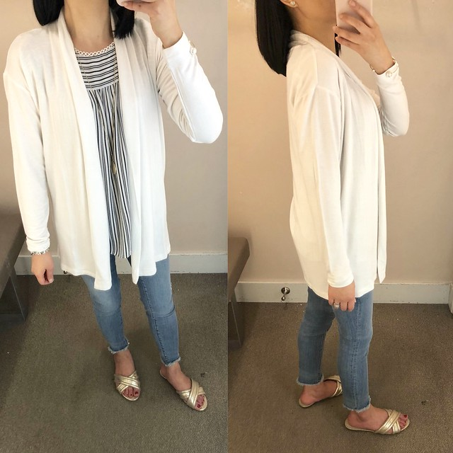 Lou & Grey Signaturesoft Open Cardigan, size XS regular